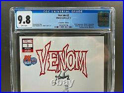 Venom #3 Px Edition Sdcc Cgc Graded 9.8 1st Full Appearance Of Knull Marvel 2018