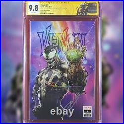 Venom #7 Crain Variant Cover Cgc 9.8 Ss Signed By Clayton Crain & Donny Cates