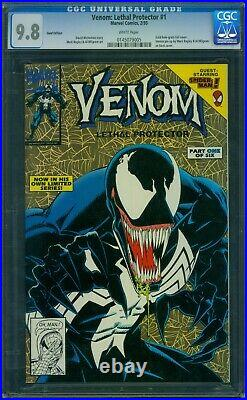 Venom Lethal Protector 1 CGC 9.8 White Pages Gold Edition