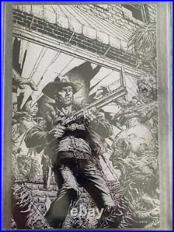 WALKING DEAD DELUXE 1 CCG 9.8 FINCH VARIANT Sketch B&W Cover Limited 250