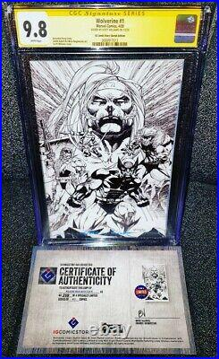 Wolverine 1 CGC SS 9.8 SKETCH COVER VARIANT! (2020)