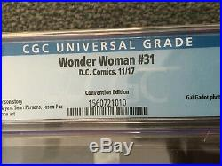 Wonder Woman #31 Foil Cover Variant GAL GADOT Movie Photo CGC Convention Edition
