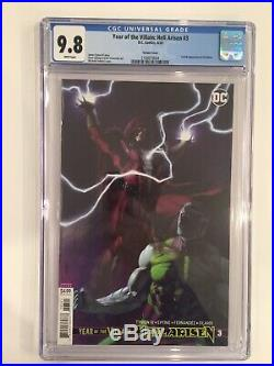 Year Of The Villain Hell Arisen #3 Variant Cover, 1st Print, Cgc 9.8