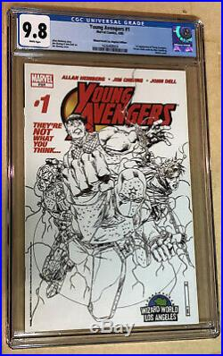 Young Avengers #1 WW LA Variant Sketch Cover CGC 9.8 1st Kate Bishop