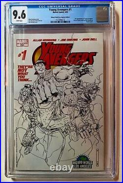 Young Avengers #1 Wizard World LA Sketch Variant Cover 1st Kate Bishop CGC 9.6
