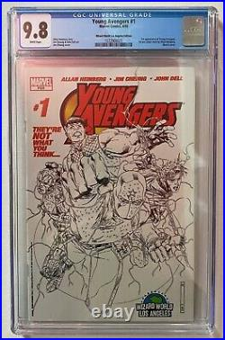 Young Avengers #1 Wizard World LA Sketch Variant Cover 1st Kate Bishop CGC 9.8